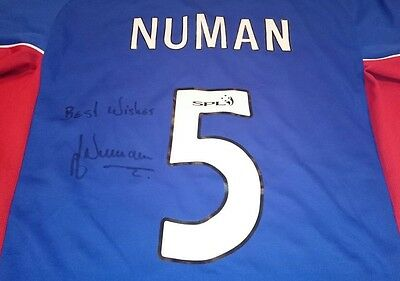 Arthur Numan signed rangers shirt / photo proof  COA