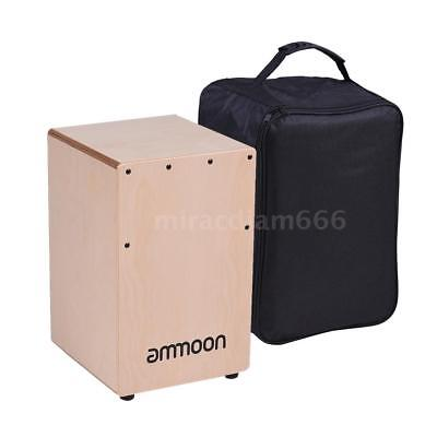 ammoon Wooden Cajon Box Drum Hand Drum Persussion with Bag for Kids New U3K2