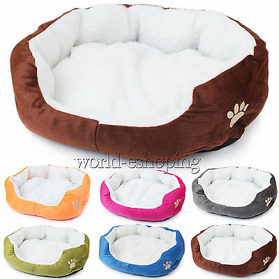 Pet Dog Cat Bed Soft Warm Cushion Cushion Basket Kennel Puppy Plush Couch Beds