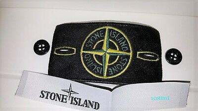 Genuine brand new stone island badges with labels and high gloss buttons @sale@