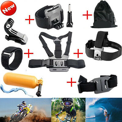 Accessories Chest Head Strap Monopod Floating Bobber Mount for Go pro Hero 4 3+2
