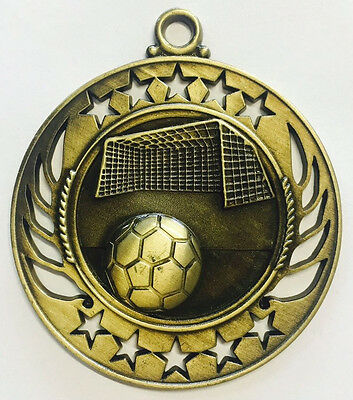 Soccer Medals Football EPL Medal Trophy Award 60mm FREE Engraving & Ribbon M4