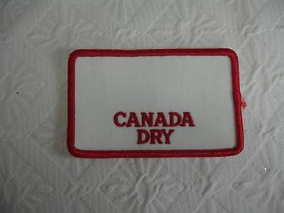 Canada Dry Cola Uniform Patch Embroidered Sew On ~ NEW!