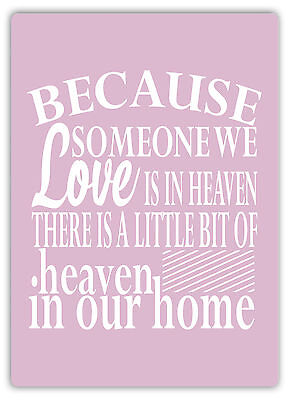 Pink Someone We Love Metal Wall Sign Plaque Art-Lord Prayer Priest Love