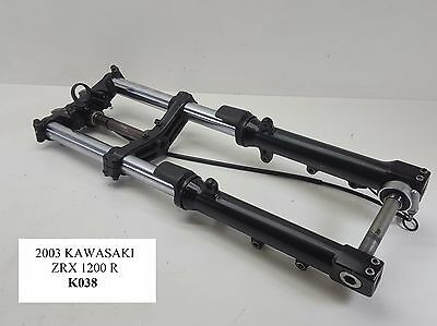 2003 Kawasaki ZRX1200 R 43mm Front Forks STRAIGHT Triple Tree  01-07 K038