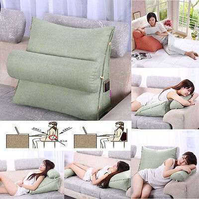 Bedrest Adjustable Pillow Back Support TV Reading Bed Rest Cushion Home Decor