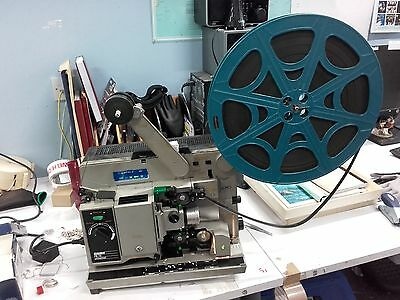 16mm FILM lot:Bauer P8TS, Vintage Film Screens and 12 16mm Films