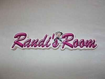 Picture Perfect Workshop wooden Betty Boop themed Randi's Room door wall sign