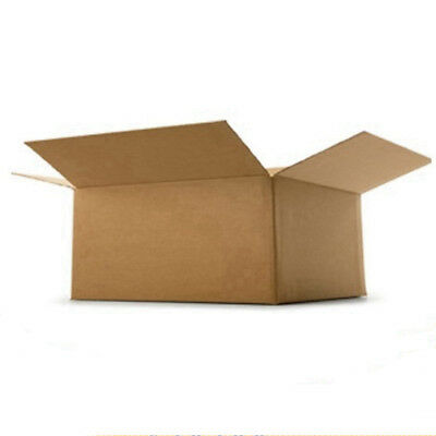 "Cardboard Postage Boxes Single Wall Postal Mailing Small Parcel 17"" x 13"" x 6"""