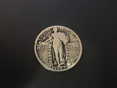 1927-P Standing Liberty Quarter 90% SILVER LOT116