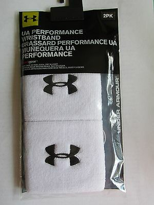 Men's Under Armour 2Pack  Wristband Nip White