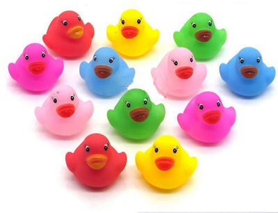 24 PCS Floating Rubber Duck Water Toys for Baby Children Kids Toddler Bath Time