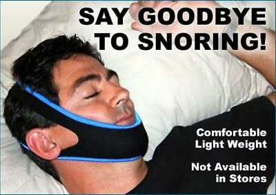 Snoring Solution Chin Strap Sleep Apnea Belt Stop Snore Support