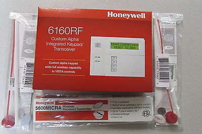 Honeywell 6160RF Alpha Keypad w/ built in 5881ENH RF wireless & 3 5800micra
