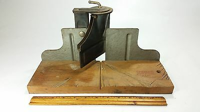 VINTAGE STANLEY NO. 116 MITRE MITER BOX antique old tool wood working back saw