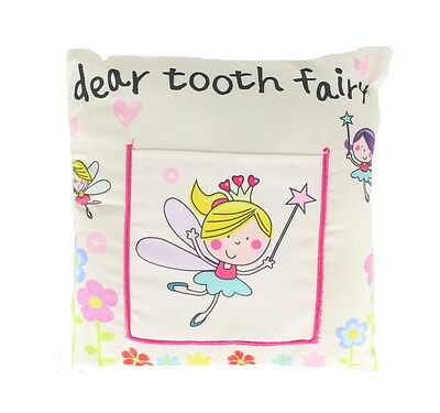 Children's Boys/ Girls Tooth Fairy Money Pillow Cushion With Note/ Letter Pocket