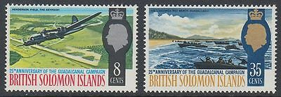 Solomon Islands 1967 ** Mi.161/62 Schlacht von Guadalcanal Battle [sq6109]