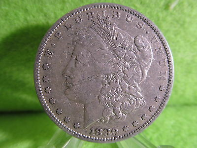 1880 Morgan Silver Dollar In Fine Condition