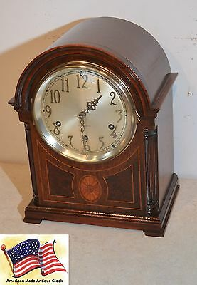 Seth Thomas Westminster Chime Clock #96 - 1928 Antique Clock In Rubbed Mahogany
