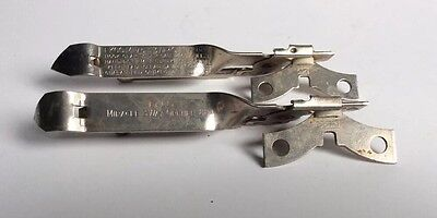 Lot (2) Vtg Ekco USA Made 884 Miracle 3 Way Hand Operated Can/Bottle Openers