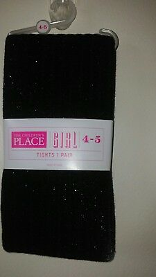 Childrens Place Brand Girls Tights Black And Pink