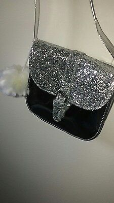 Children's Place Girls Silver Glitter Purse With Strap
