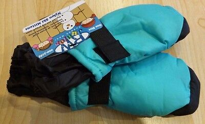 Thinsulate Insulation Mittens Gloves Blue/Black Water Proof Youth Size