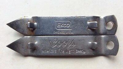 Lot (2) VINTAGE EKCO CHICAGO & COORS BOTTLE&CAN OPENERS/CAN TAPPERS