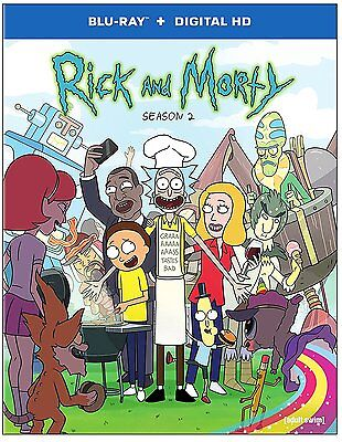 Rick and Morty ~ Complete 2nd Second Season 2 Two ~ BRAND NEW BLU-RAY SET