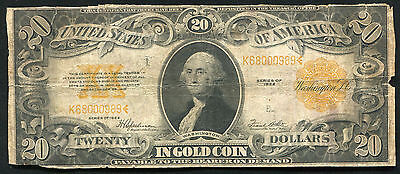 Fr. 1187 1922 $20 Twenty Dollars Gold Certificate Currency Note