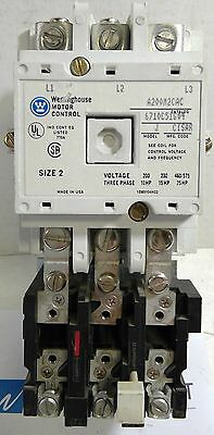 Westinghouse Cutler Hammer Starter A200M2CAC Size 2 120v AC Coil - Reconditioned
