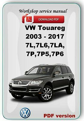 Touareg 2003 - 2017 Factory Workshop Repair & Service Manual