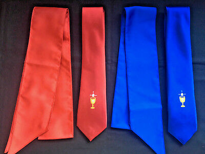 """Boys First Holy Communion Tie, Full Length 48"""" Red Tie With Chalice & Host"""