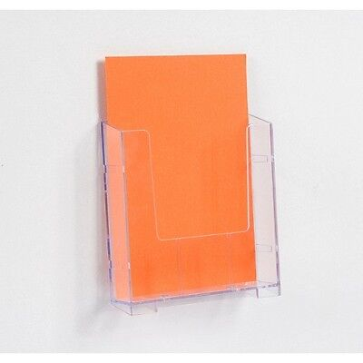 A5 Wall Mounted Brochure Holder Modular Clear Plastic Acrylic BWA5