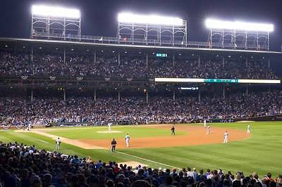 2 Chicago Cubs OPENING DAY NIGHT vs LA Dodgers WRIGLEY Tickets 4/10 LOWER LEVEL!