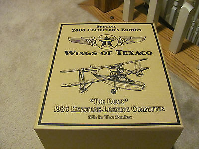 2000 Wings of Texaco #8 SPECIAL ED 1936 Keystone-Leoning The Duck metal airplane