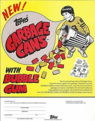 Selling sheet GARBAGE CANS BUBBLE GUM CONTAINERS