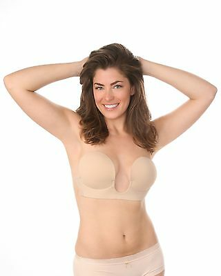 Plunge Backless V-Bra Strapless Sticker Bra A B C D Cup Beige Black Prom Wedding