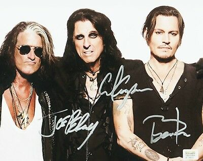 Hollywood Vampires Joe Perry Cooper Johnny Depp Autographed Signed PHOTO REPRINT