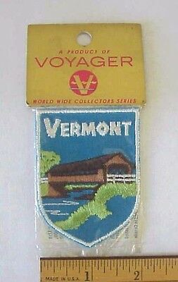 Vermont Covered River Bridge Voyager Patch  World Wide Collectors Series