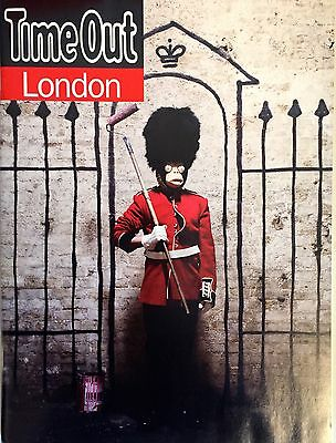 Banksy London Time Out Magazine. Brand New. Without Cover Text.