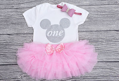 Minnie Mouse 1st Birthday Outfit.Baby Girls Minnie Mouse 1st Birthday Outfit 23 00