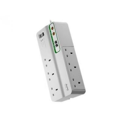 APC Home/Office SurgeArrest with 6 Outlets with Phone and Coax Protection 230V (