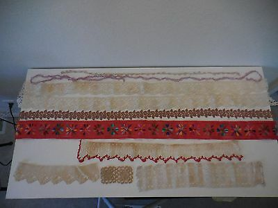 vintage lot of a variety of trim/lace