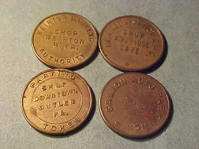 Four (4) Different Us Parking Tokens  # E-2