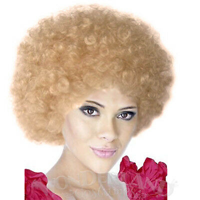 Kath Wig Blonde Curly Permed Afro Clown Costume 1970s Disco Kath & Kim