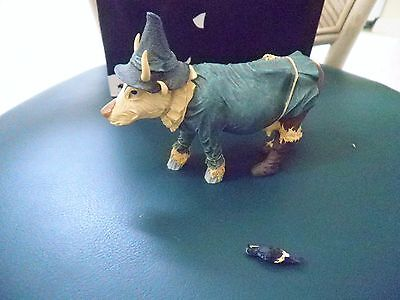 Cow Parade Figurine Collectible Scarecow 2002 #7243 Westland Retired Damaged