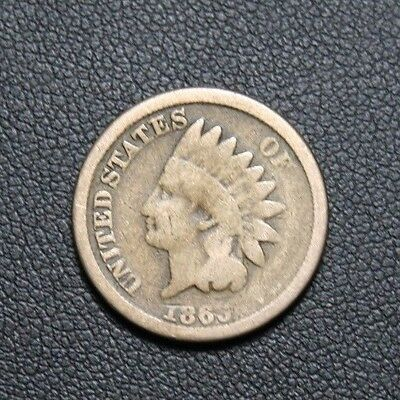 1863 Indian Head Cent 1C
