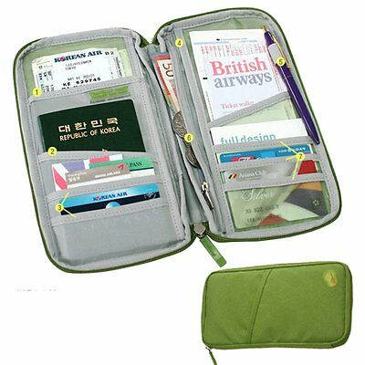 Multi-use Travel Portable Certificate Package passport Wallet Passport Packages