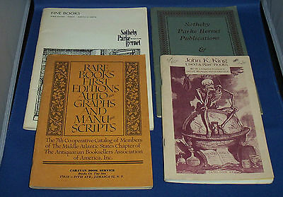 Auction Catalogs for Rare & Fine Books - Lot of 4  from 1961, 1972, 1976 & 1991